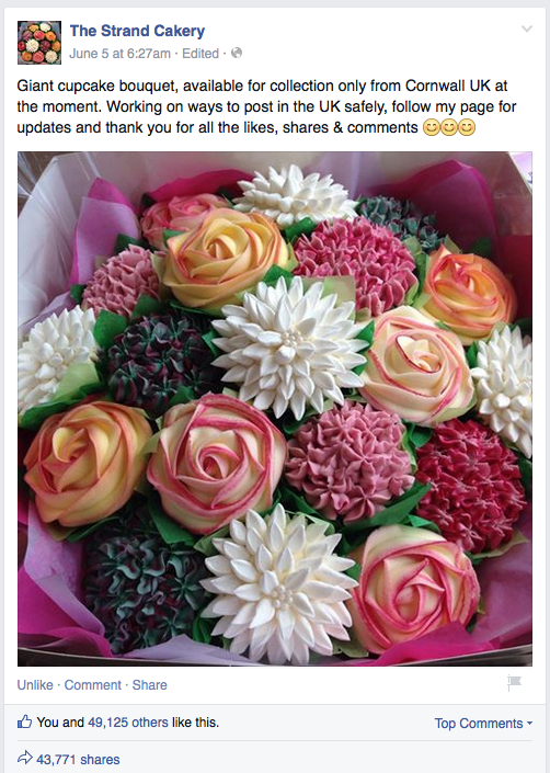 The Strand Cakery Viral Cupcake Bouquet.